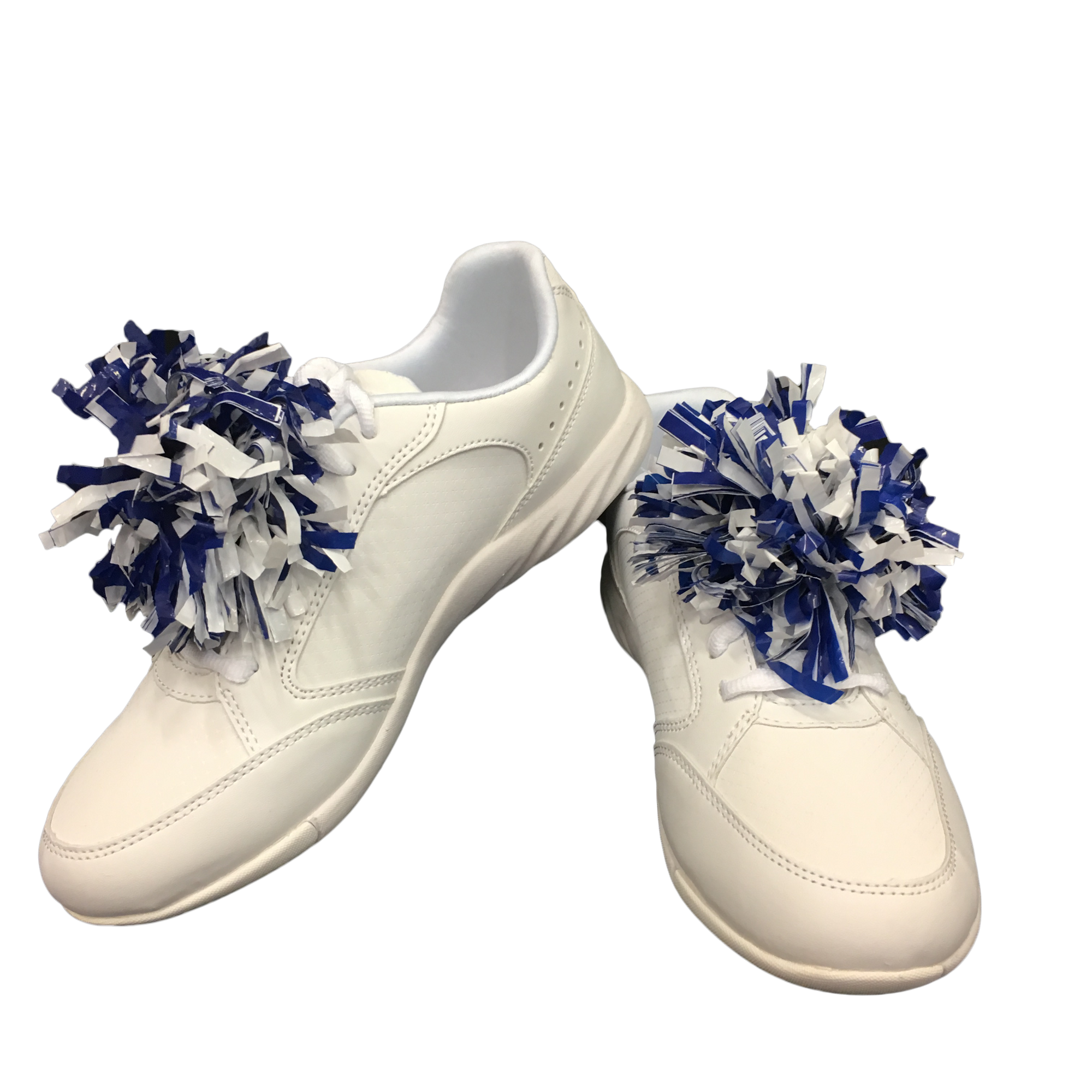 Blue / White mini-pom