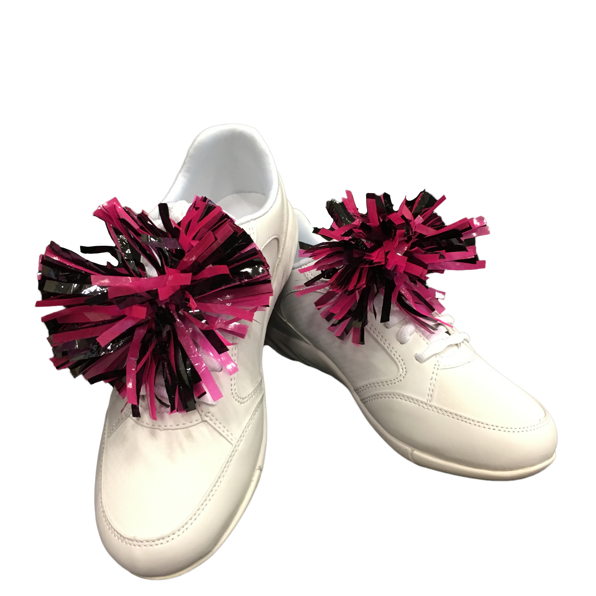 Pink / Black mini-pom
