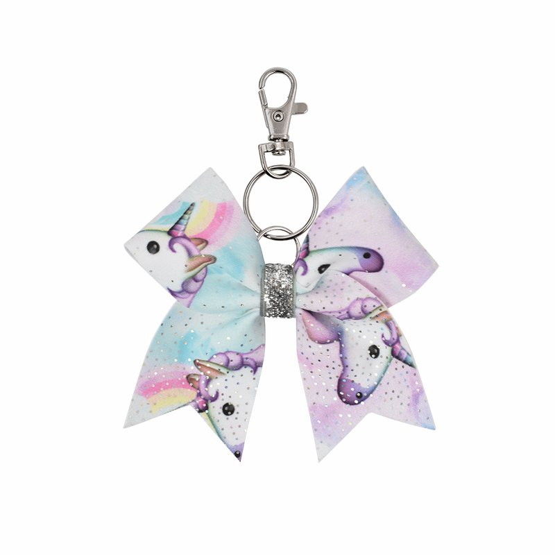 Unicorn Sky hairbow keyring