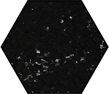 Obsidian Black Medium Cut Ecoglitter