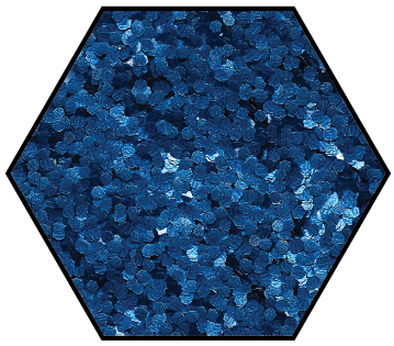 Medium fine ocean blue biodegradable glitter