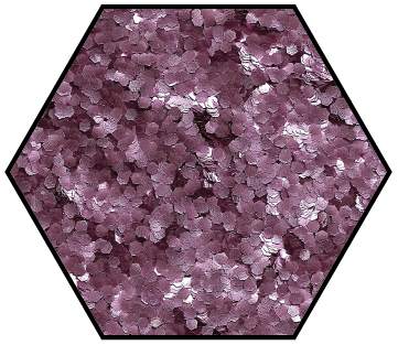 Medium fine rose pink biodegradable glitter