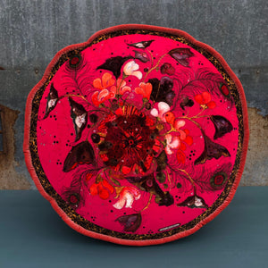 Velvet Pouf - Because I Love You - Pink