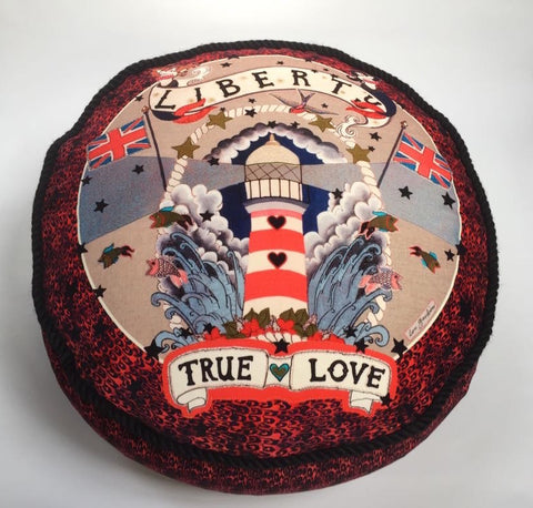 Velvet Pouf - True Love