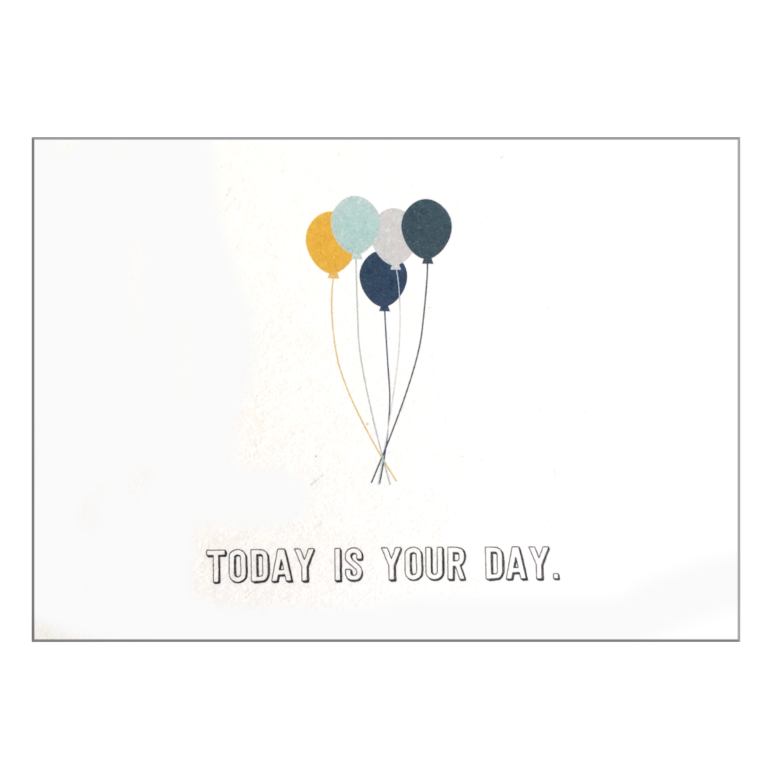 "Postkarte ""Today is your day"" Bürobedarf & Papeterie  Papier ahoi nordery"