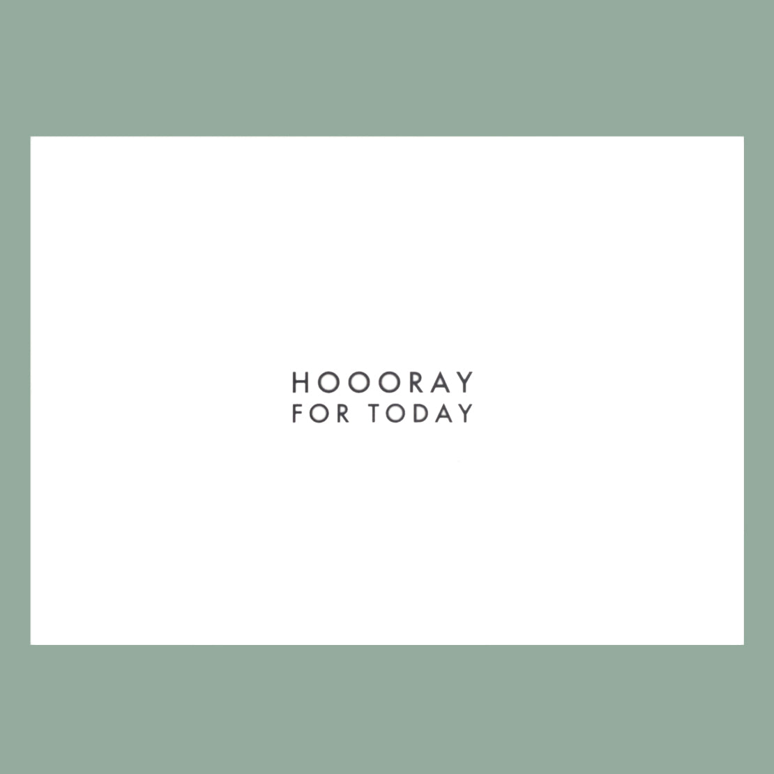 "Postkarte ""Hooray for today"" Bürobedarf & Papeterie  Papier ahoi nordery"