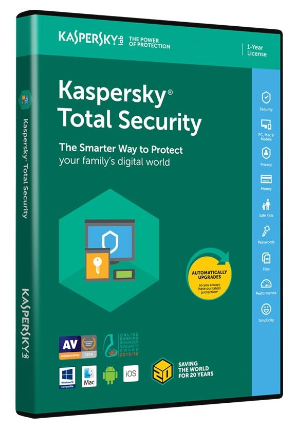 Kaspersky Anti-Virus 2018 4 User 1 Year