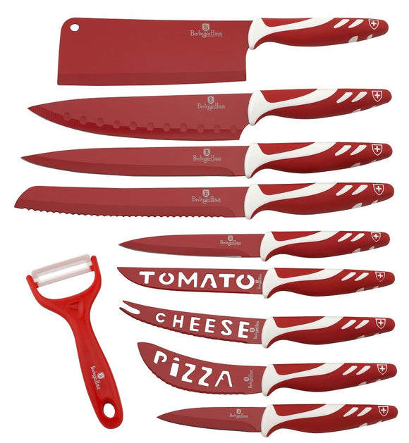 Berlinger Haus 11-Piece Non Stick Knife Set - Red