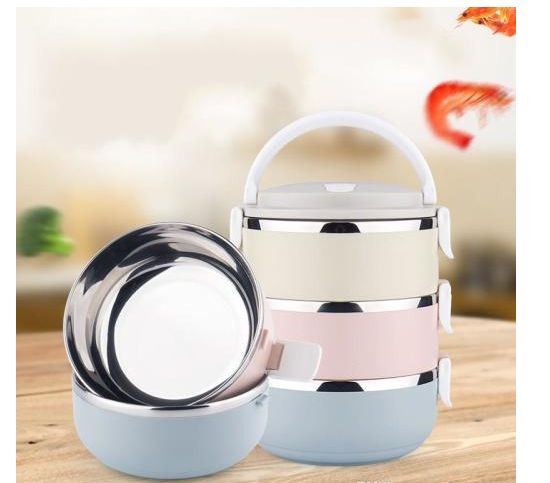 61f874fcbe3f 3 Layer Stainless Steel Lunch Box with Thermal Food Insulated Container