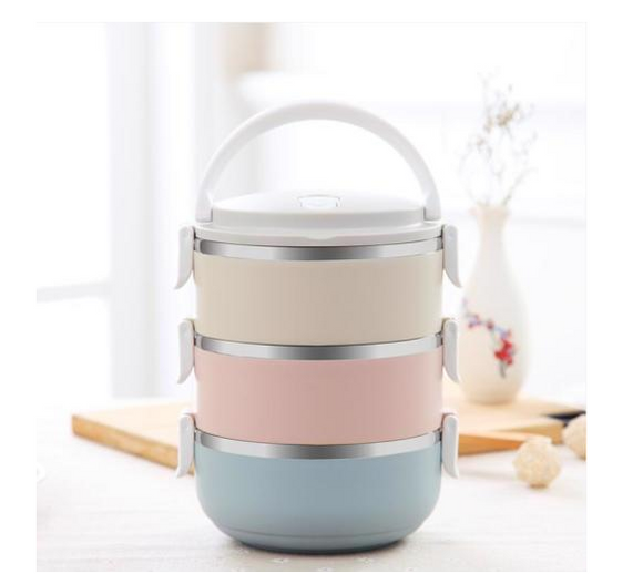 3 Layers Stainless Steel Lunch Box Thermal Food Bento Insulated Container