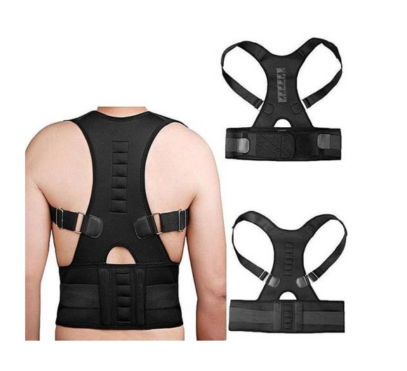 Medical-Grade Adjustable Magnetic Posture Support Back Brace