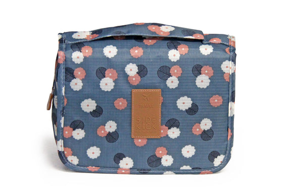 SideKick Hanging Toiletry Bag - Blue Floral