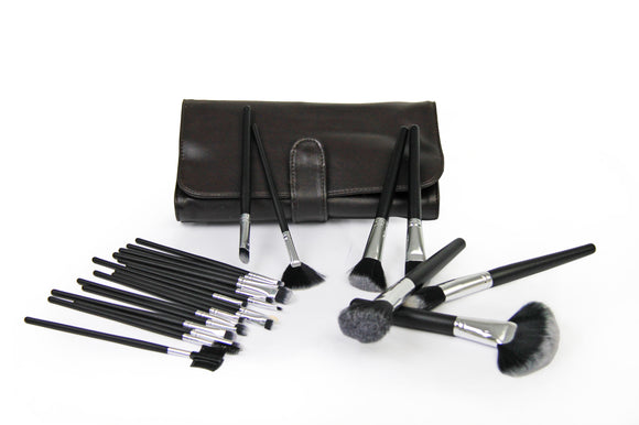 Makeup Brush Set - 24pc - Brown