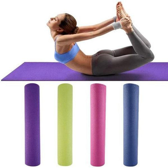 Fitness PVC Non-slip 4mm Yoga Mat Pad for Exercise Pilates Gym Leisure Mat