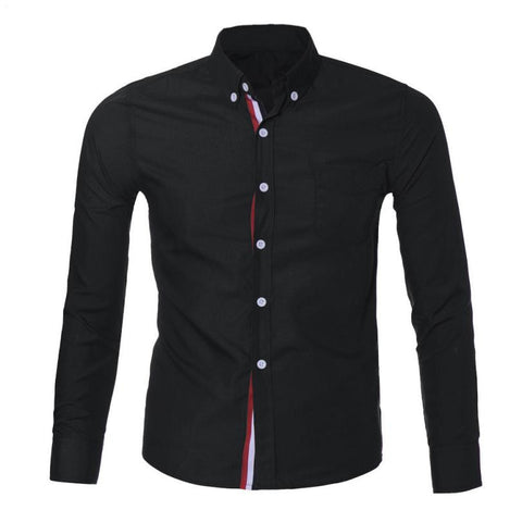 Mens Button Slim Fit Long Sleeve Shirts - Recon Fashion