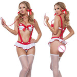 Sexy Lingerie Women Nurse Fancy Dress Costume Cosplay Outfit Set