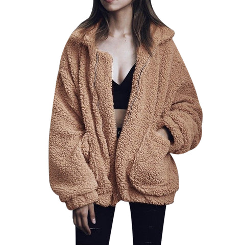 Women Fashion Fluffy Shaggy Faux - Recon Fashion