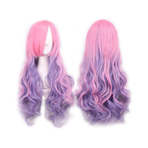 Cosplay Curly Wig for Women (Pink & Purple) - Recon Fashion