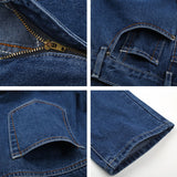 Men Cotton Straight Classic Jeans