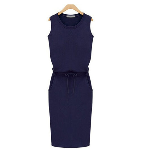 Sleeveless Sexy Casual Dress - Recon Fashion