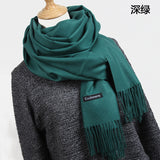 Women solid color cashmere scarves - Recon Fashion