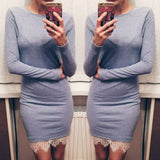 Christmas evening party long sleeve winter dress - Recon Fashion