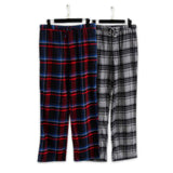 Spring 100% cotton plaid sleep bottoms - Recon Fashion