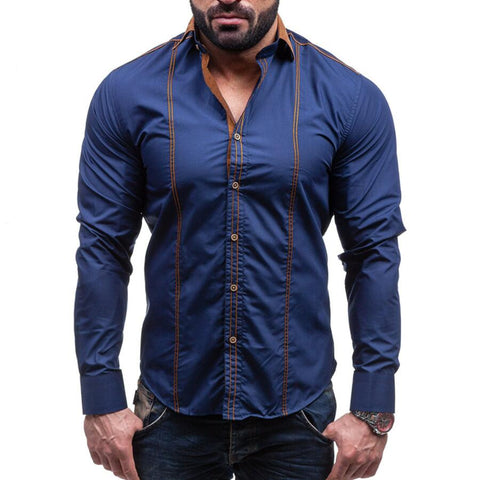 Men Shirts 2018 Brand Casual Slim - Recon Fashion