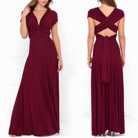 Evening Prom Club Party Infinity Multiway Maxi Dresses - Recon Fashion