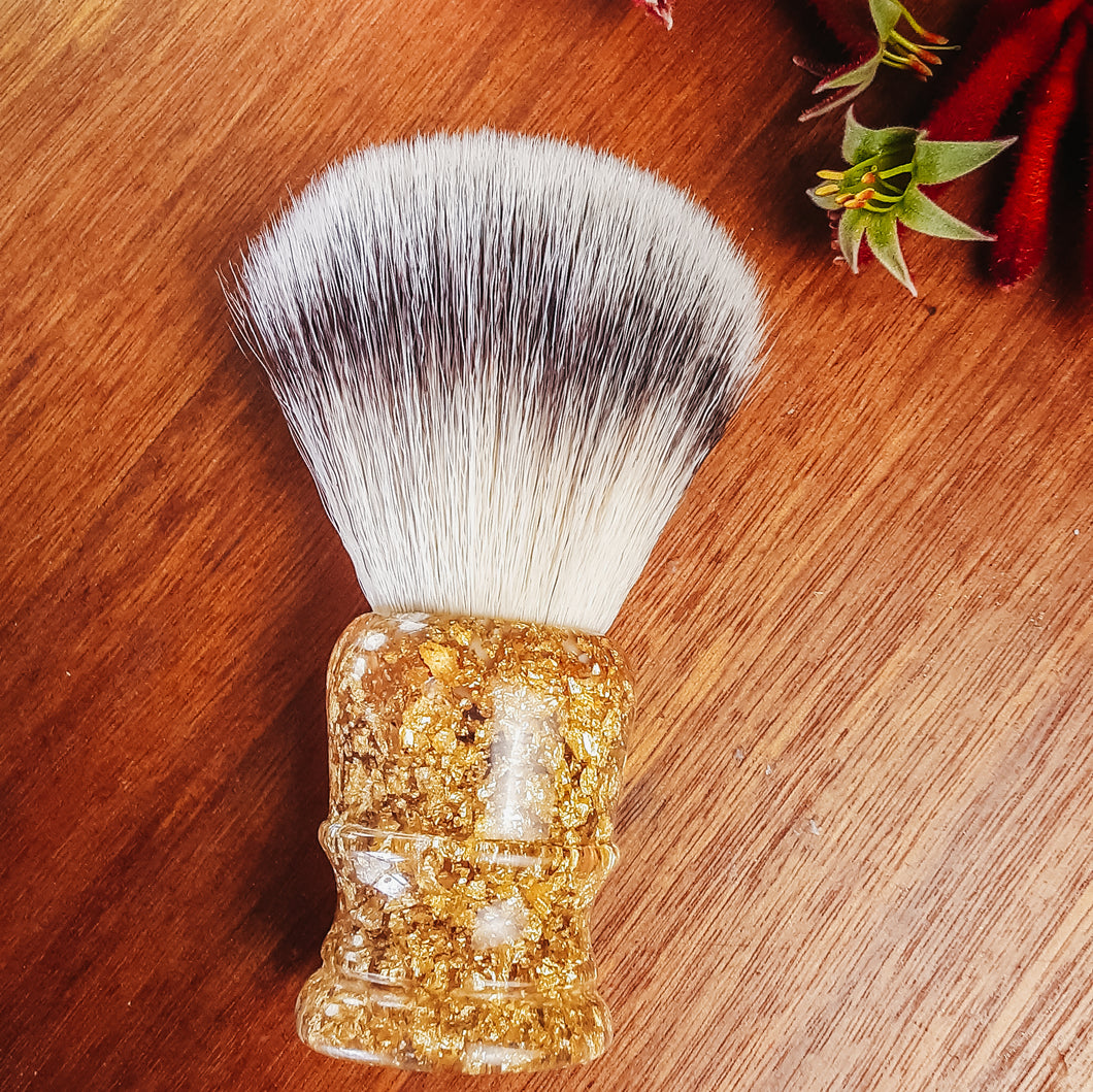 Gold Leaf Filled Shaving Brush