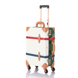 SarahFace Carry Ons - White/Forest Green's - COTRUNKAGE