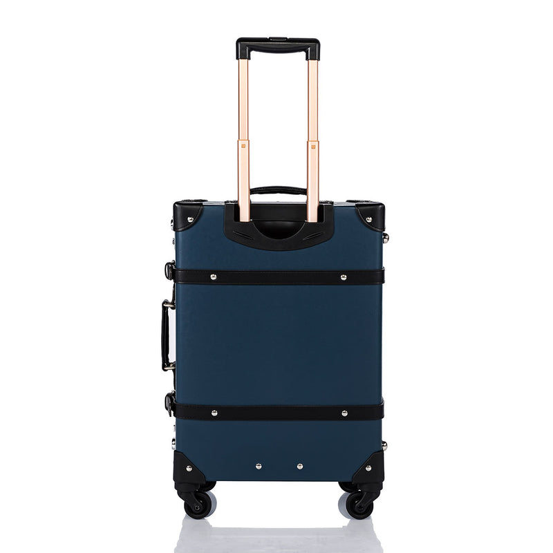 Aristocratic Carry Ons - Navy Blue/Black - COTRUNKAGE