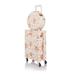 WildFloral 2 Pieces Luggage Set - Beige Floral's - TSA - COTRUNKAGE