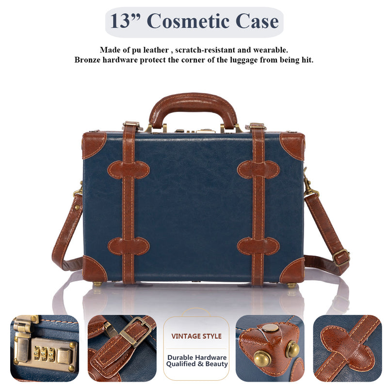 Sarah Face 2 Pieces Luggage Set - Navy Blue's
