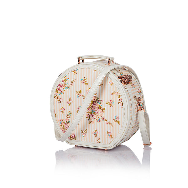 WildFloral Hat Box - Beige Floral's - COTRUNKAGE