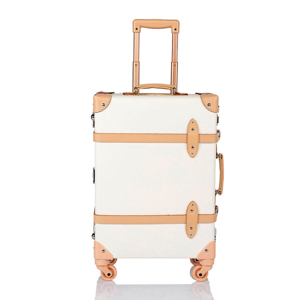 Aristocratic Carry Ons - White/Nude - COTRUNKAGE