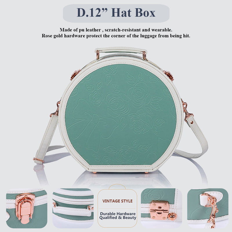 WildFloral Hat Box - Embossed Mint's