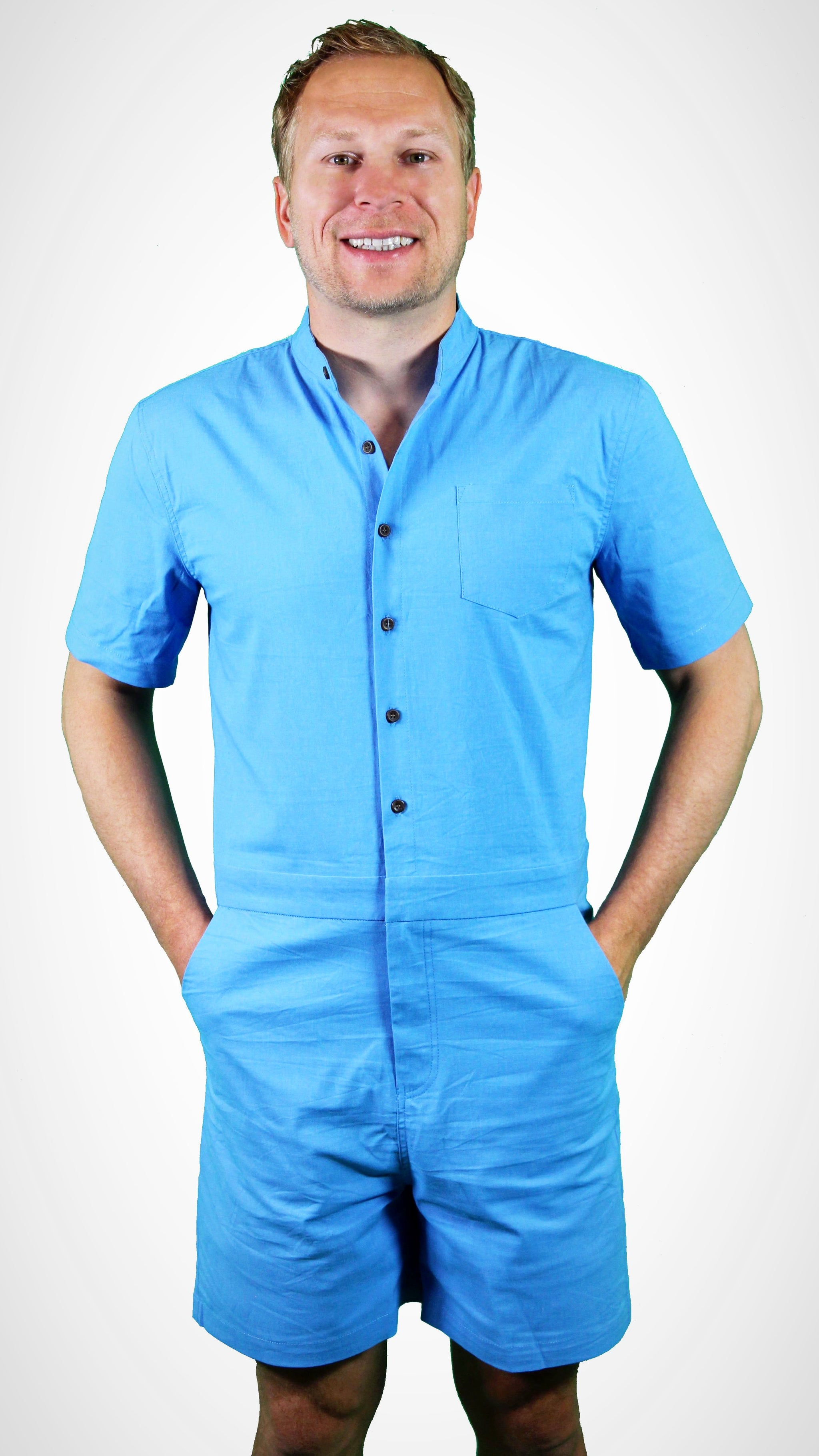 016e08f3d3d BLUE MALE ROMPER BY CHARLIE ROMPER - charlieromper