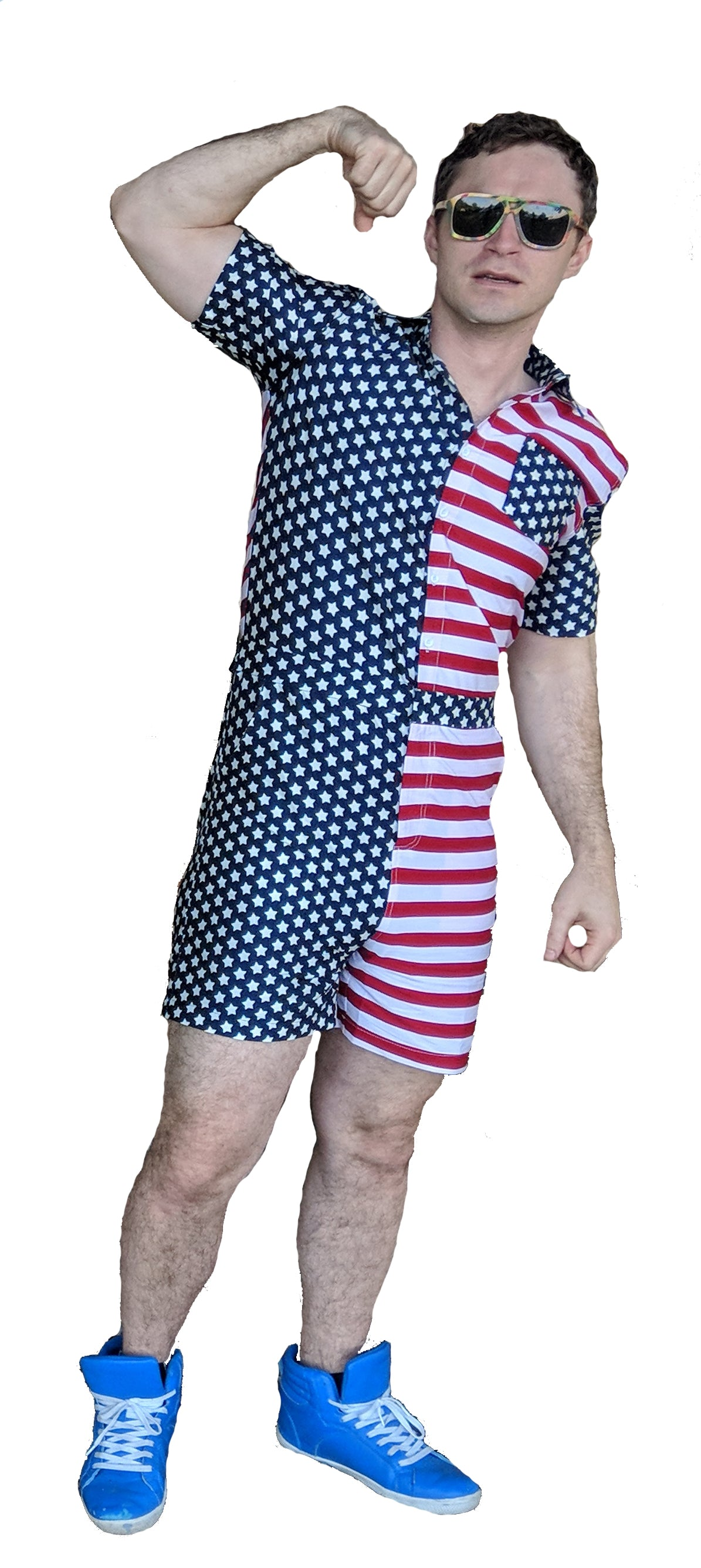 fa8e3122ee9 AMERICAN FLAG MEN S ROMPER BY CHARLIE ROMPER - charlieromper