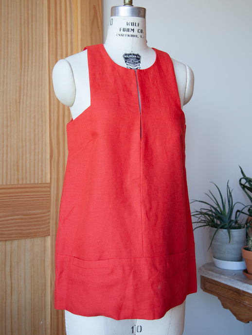 A Line Mod Top Warm Red