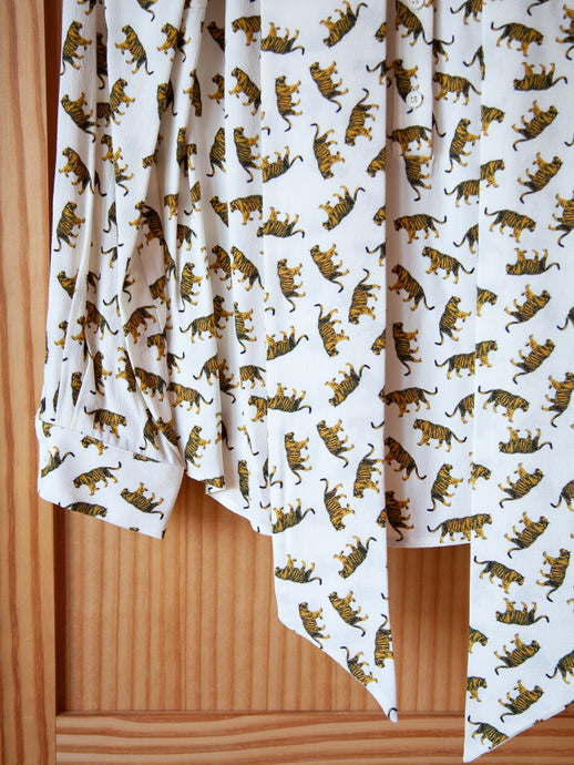 Tigers Ribbons Blouse Ivory