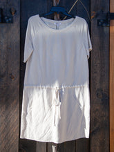 Drawstring Raglan Dress Flax