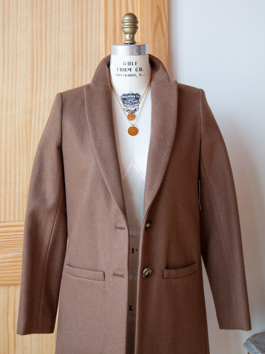 32f56d942a65 Emerson Fry tailored coat camel; Tailored Coat Camel Wool ...