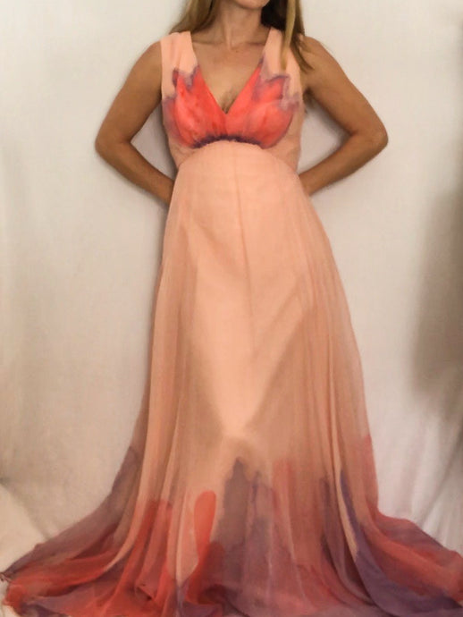 Vintage 1970's Dan Lee Couture Gown