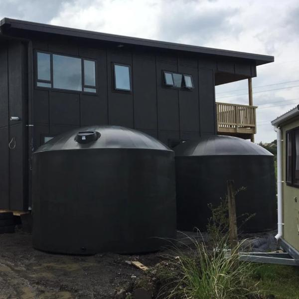 2 x Dark Grey Tanks Delivered to Kumue