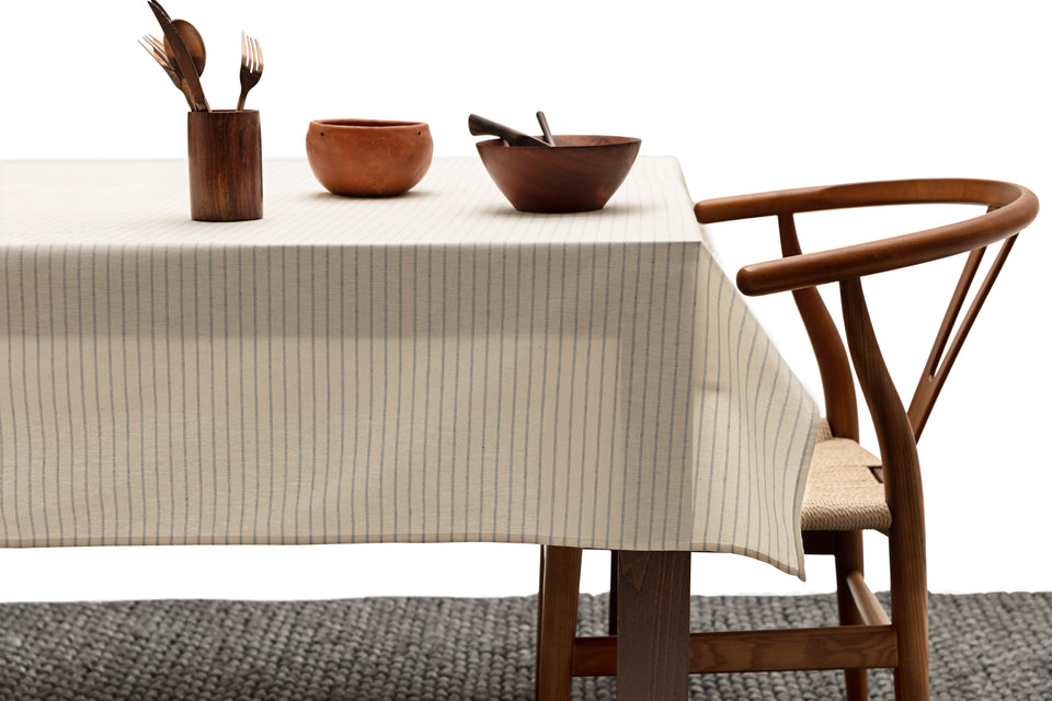 Tablecloth / Natural Striped