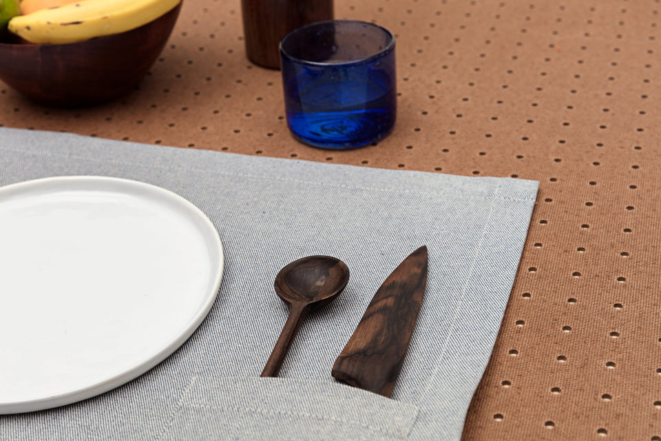 Placemats / Denim Blue with Pocket: Set of 4
