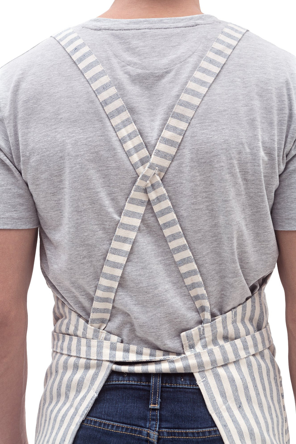 Crossback Bib Apron / Striped