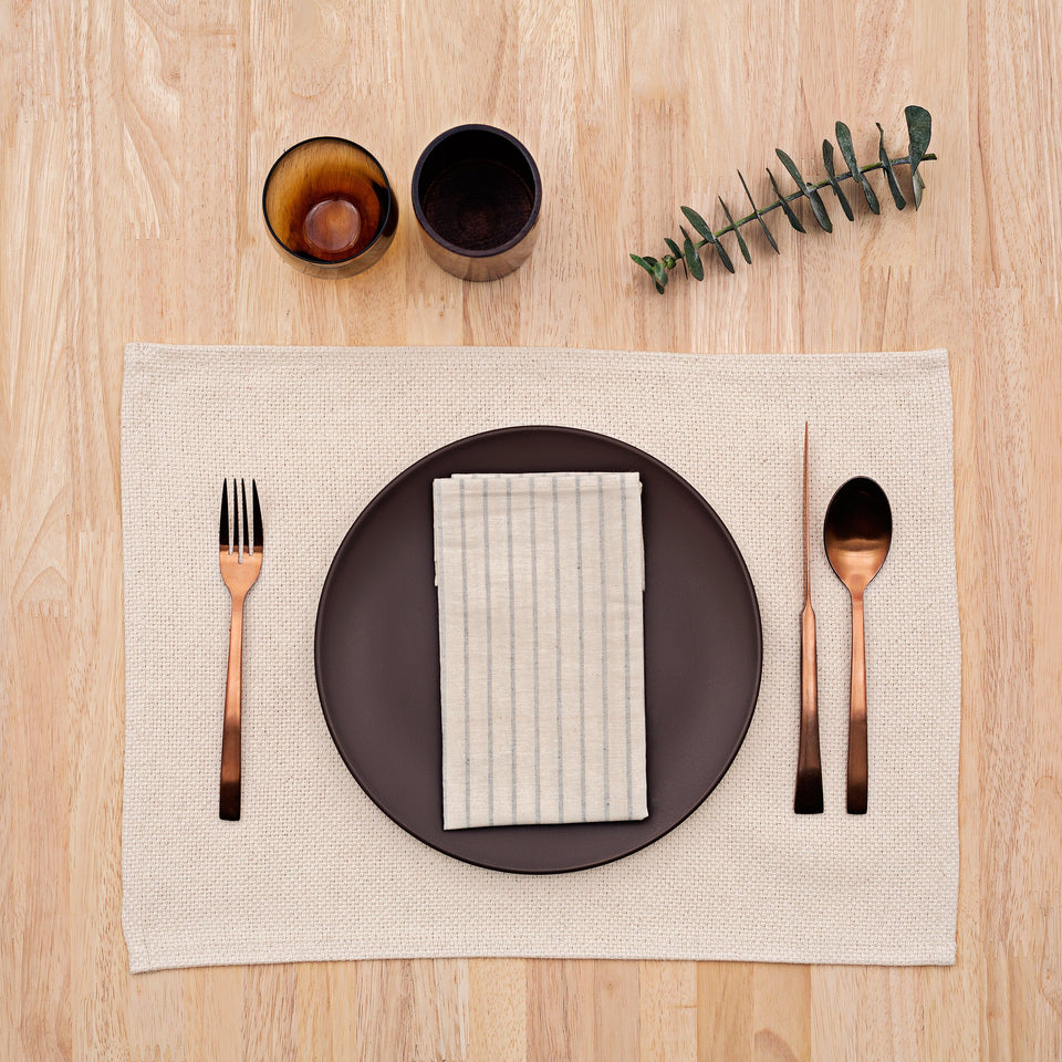 Napkins / Natural Striped: Set of 4