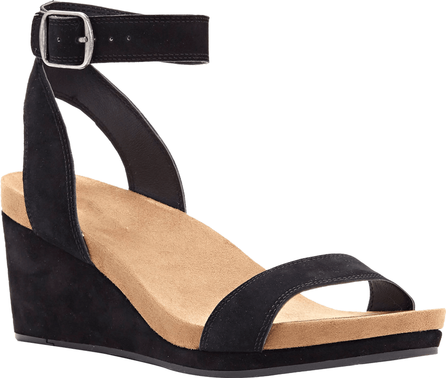 Myra Women Black Wedges